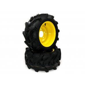 Part #33410REGRIND - John Deere Flat Free Lawn Trac Front Wheel Assemblies 18x8.50-10