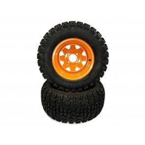 Part #TT81552 - Scag Heavy Duty Turf Pneumatic Rear Tire Assemblies 23x10.50-12 Orange