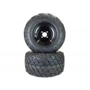 """Part# 37506K3012 Reaper K3012 Heavy Duty Turf Tire Assemblies 22x11.00-10 Gravely Ariens HD ZX Apex Zenith 52"""" - 60"""" Black"""