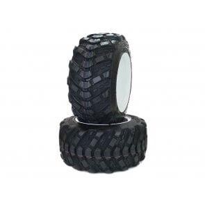 Part #50751XT41 - Walker Pneumatic Aggressive Tire Assemblies 18x8.50-10 White