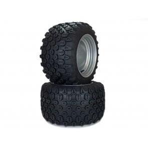 Part #HK31606 - Hustler Aggressive Deep Lug Tire Assemblies 18x10.50-10