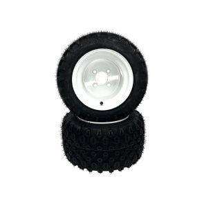 Part #HK80750 - Walker Pneumatic Tire Assemblies 18x11.00-10 White