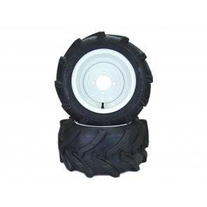 Part #LT50751 - Walker Pneumatic Lawn Trac Tire Assemblies 18x8.50-10 White