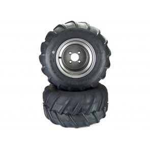 "Part# LT72210 Aggressive Tire Assemblies 22x11.00-10 Gravely Ariens HD ZX Apex Zenith 52"" - 60"" Dark Gray"