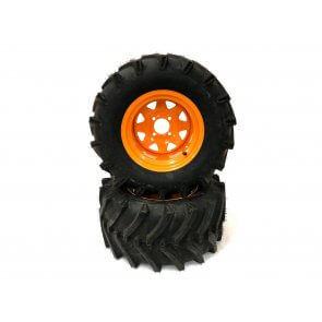 Part #LT81850 - Scag Heavy Duty LawnTrac Pneumatic Rear Tire Assemblies 24x12.00-12 Orange