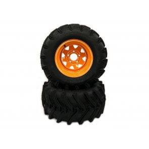 Part #LT84024 - Scag Heavy Duty LawnTrac Pneumatic Rear Tire Assemblies 24x12.00-12 Orange