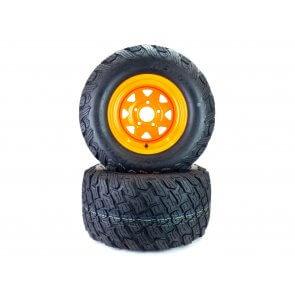 Part# 84024K3012 Reaper K3012 Heavy Duty Turf Tire Assemblies 24x12.00-12 Scag Cheetah Orange