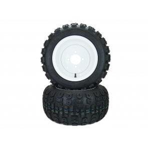 Part #TT50751 - Walker Pneumatic Terra Trac Tire Assemblies 18x8.50-10 White