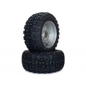 Part #TT606328 - Hustler Terra Trac Tire Assemblies 18x8.50-10