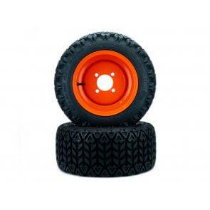 (2) All Terrain Front Wheel Assemblies 18x8.50-10 Fits Kubota BX Series