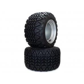 Part# 350M31606 Hustler All Terrain Tire Assemblies 18x10.50-10