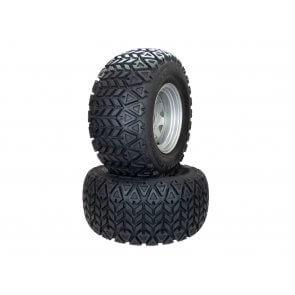 Part# 350M607647 Hustler All Terrain Tire Assemblies 26x12.00-12